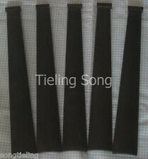 100pcs best undyed black 4/4violin indonesia ebony fingerboard,include the Nut.