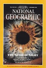 National Geographic November 1992 -- Sense of Sight, Eagles, Portuguese Empire