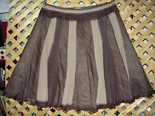 PETER NYGARD Long Brown Plaid Patchwork Stretch A Line Skirt Plus Size 22W NEW!