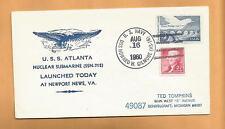 U.S.S. ATLANTA NUCLEAR SUBMARINE SSN 712 AUG 16,1980