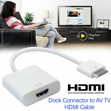30 Pin Dock Connector to HDMI TV Adapter Cable Lead For iPhone 4s & iPad 2 3 UK