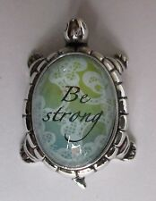 bb Be Strong TURTLE CHARM FIGURINE ganz have courage Life hope faith Message