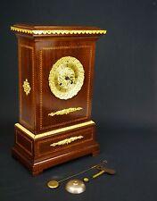 Biedermeier Uhr Kaminuhr Tischuhr Clock Empire Pendule um1790 Feuervergoldet