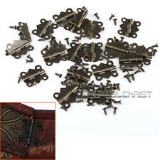 20pcs Decorative Vintage Mini Butterfly Hinges For Cabinet S Size Bronze