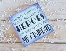 Gifts for him, grandad plaque, present from the grandchildren grey square wooden
