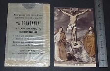 CHROMO 1920-1930 IMAGE PIEUSE CATHOLICISME HOLY CARD CHRIST EN CROIX