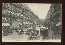 France PARIS Rue de la Paix LL Louis Levy animated street scene PPC