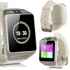 GV08 Bluetooth Smart Watch Touch Screen Phone Mate For Android& iPhone White