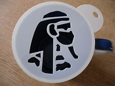 Laser cut eygptian head design coffee and craft stencil
