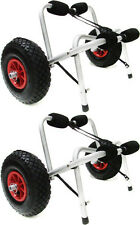 LOT2~Kayak Canoe Jon Boat Carrier Dolly Trailer Trolley Transport Cart Wheel New