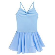 Kids Child Girls Gymnastics Leotard Sleeveless Ballet Dance Dress Dancer Costume