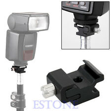 """Speedlite Metal Hot Shoe Flash to Stand Mount Adapter With 1/4""""-20 Tripod Screw"""