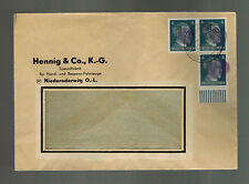 1945 Niederoderwitz Germany Obliterated Hitler HEad Cover Window Envelope