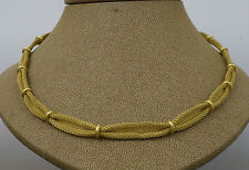 """18carat Yellow Gold Mesh / Lace Necklace 17"""" Inch  (38.3 Grams)"""
