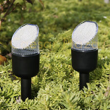 New 40 Pack Black Outdoor Bright White LED Solar Landscape Lights Yard Path