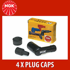 NGK Motorcycle Resistor Plug Cap / Cover SD05F - Black (8022) - 4 Pack