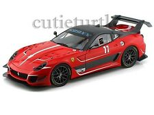 Hot wheels Mattel Elite Ferrari 599XX 599 XX EVO 1/18 Diecast BCJ91 Red #11