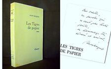 """""""Les TIGRES de PAPIER"""" Alain BOSQUET (= Anatole BISK) GRASSET 1968 envoi signé !"""
