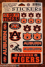 18 Auburn University Tigers Licensed Decal Stickers NCAA College Football Sports