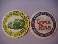 Beer Coaster Mat    TRIPLE 3 ROCK Brewery, CALIFORNIA ~ America's Oldest Brewpub