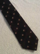 Vintage St Michael Tie in Brown, Bronze, Gold, and White. (T315)