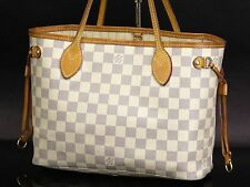 Auth LOUIS VUITTON Damier Azur Neverfull PM Hand Tote Bag Purse N51110 18557720