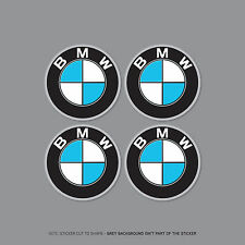 SKU2162 - 4 x BMW Alloy Wheel Centre Stickers Badges Car - 50mm