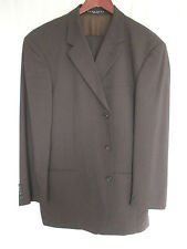 Hugo Boss Suit 44R 38x30 Brown 95% Virgin Wool 5% Nylon