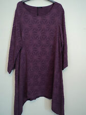 STUNNING GRIZAS 100% SILK EMBOSSED DESIGN DRAPED TUNIC DRESS SIZE L BNWT