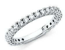 14k Solid White Gold Wedding Band Anniversary Ring
