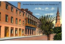 Dock Street Theatre-St Phillips-Charleston-South Carolina-Vintage Postcard