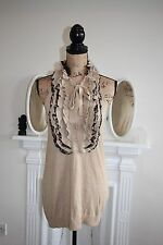 Roberto Cavalli for H&M Gold Metallic Top Size 10 12