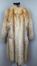 CANADIAN RED CROSS FOX FUR Chevron Pattern Coat size S