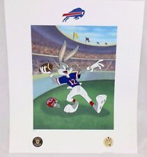 Looney Tunes Buffalo BILLS Warner Bros Bugs Bunny Hail Mary NFL FOOTBALL Litho