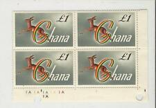 Ghana: Scott 97 in block of 4 red- fronted gazelle, mint NH. GH05