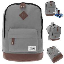 Rucksack BESTWAY Rocky MOUNTAIN Vintage Schulrucksack Daypack Bag GRAU 4200 +f