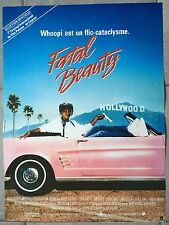 Affiche FATAL BEAUTY Sam Elliott WHOOPI GOLDBERG Tom Holland AUTOMOBILE 40x60*