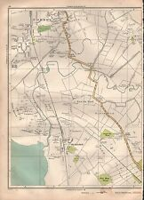 1935 LANCASHIRE LARGE SCALE MAP - FORMBY HIGHTOWN LADY GREEN ALTCAR RIFLE RANGES