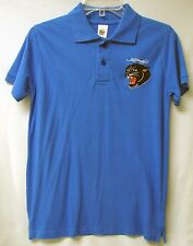 ED HARDY Big Boys' S/S Panther Head Cotton Polo-Cobalt/Black-LARGE (12)-NWT-$44