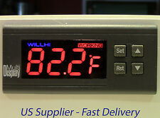 Digital Temperature Controller: WH7016D+ 110v 30A with two temperature sensors