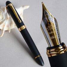 JINHAO X450 FROSTED BLACK AND GOLDEN 0.7MM BROAD NIB FOUNTAIN PEN