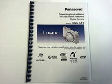 PANASONIC LUMIX DMC-LF1 PRINTED INSTRUCTION MANUAL USER GUIDE 285 PAGES A5