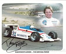 1982 Roger Mears signed Machinists Union Cosworth Penske Indy Car postcard