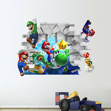 3D wall super mario kids room decor Wall sticker Wallpaper wall decals Mural