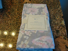 POTTERY BARN KIDS NELLIE ORGANIC CRIB FITTED SHEET GORGEOUS IN GRAYS/PINK