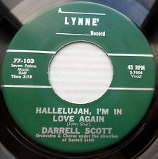 DARRELL SCOTT teen 45 HALLELUJAH I'M IN LOVE AGAIN M- / ONCE UPON A TIME VG++JRE