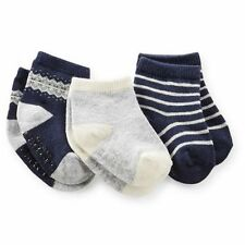 New Carter's 3 Pack Socks 12-24m NWTForest Friends Fair Isle Navy Blue Gray boys
