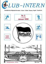 II. BL 89/90 Hertha BSC - CLUB-INTERN Nr. 2 - Januar 1990