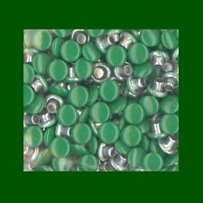 """Set of 100 1/8"""" ROUND KELLY LUCKY GREEN FLAT TOP RIVETS EYELETS Top Colored"""