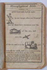 1824 NEW HIEROGLYPHICAL BIBLE FOR AMUSEMENT & INSTRUCTION OF YOUTH Cooperstown